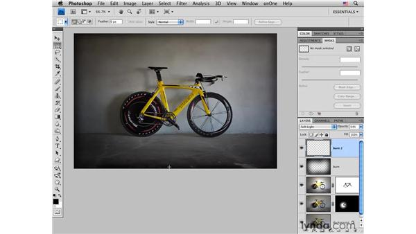 Road bike pt. 2: Adding drama: Photoshop CS4 for Photographers: Creative Effects