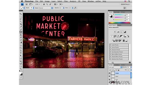 Seattle: Adding light for emphasis: Photoshop CS4 for Photographers: Creative Effects