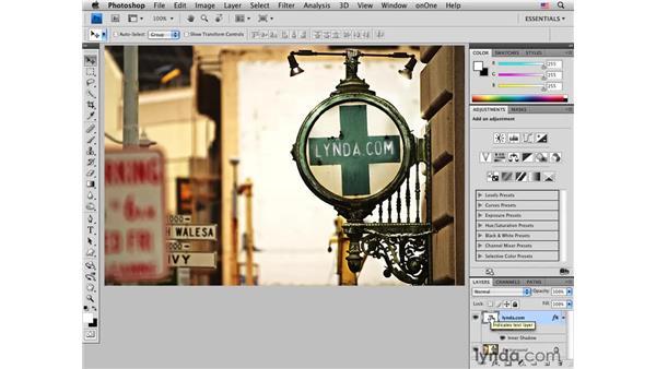 San Francisco sign pt. 1: Adding copy : Photoshop CS4 for Photographers: Creative Effects