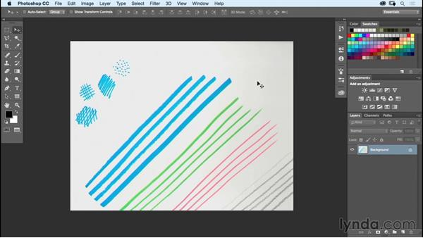 Scanning and cleanup: Designing a Poster with Custom Brushes in Illustrator