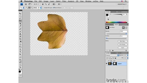 Selecting an object and creating a drop shadow: Photoshop CS4 for Photographers: Creative Effects