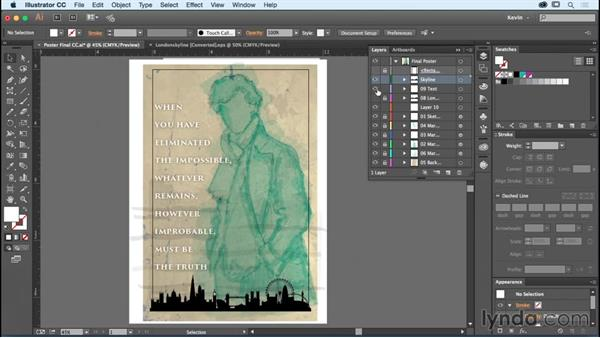 Adding text to your poster design: Designing a Poster with Custom Brushes in Illustrator