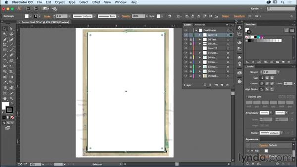 Making your poster print ready: Designing a Poster with Custom Brushes in Illustrator