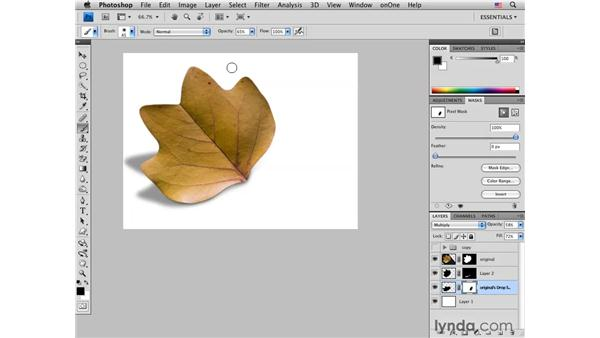 Adding point-of-contact shadows and creative color: Photoshop CS4 for Photographers: Creative Effects