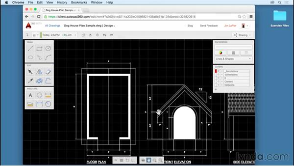 Interface elements: Up and Running with AutoCAD 360