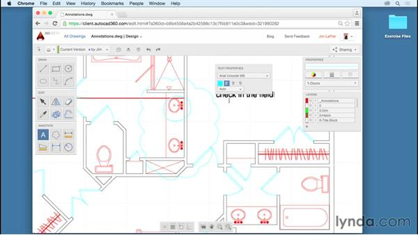 Annotation tools: Up and Running with AutoCAD 360