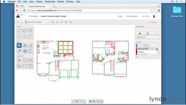 Working with layers: Up and Running with AutoCAD 360