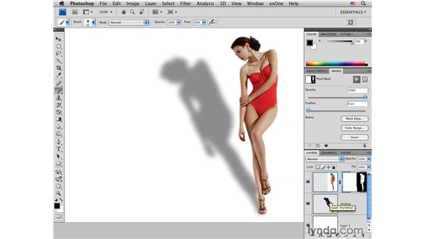 Adding a directional shadow : Photoshop CS4 for Photographers: Creative Effects