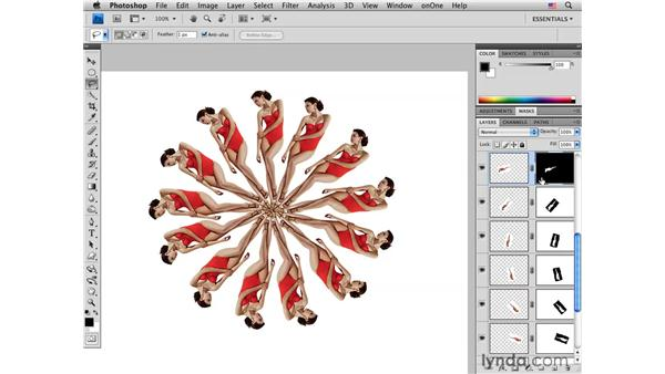 Rotating and creating a pattern : Photoshop CS4 for Photographers: Creative Effects