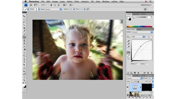 Adding radial motion blur: Photoshop CS4 for Photographers: Creative Effects