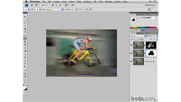 Adding extreme motion blur: Photoshop CS4 for Photographers: Creative Effects