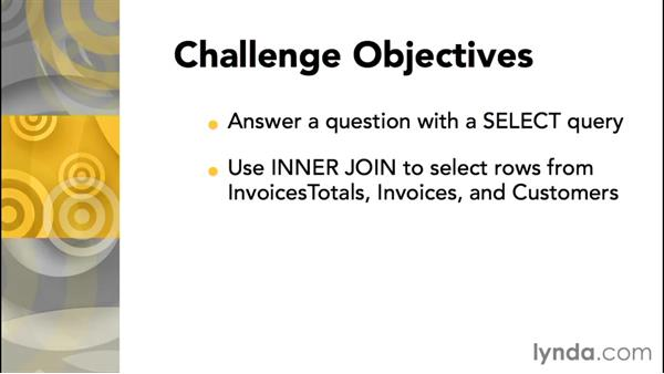 Challenge: Making selections: Database Fundamentals: Creating and Manipulating Data