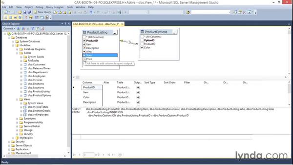 Viewing related data from multiple tables: Database Fundamentals: Creating and Manipulating Data