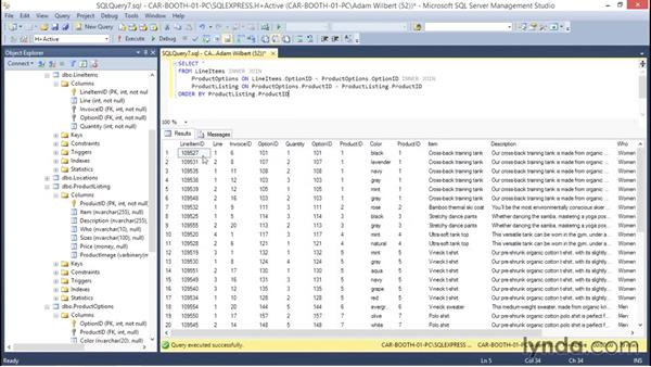 Defining a view using Transact-SQL commands: Database Fundamentals: Creating and Manipulating Data