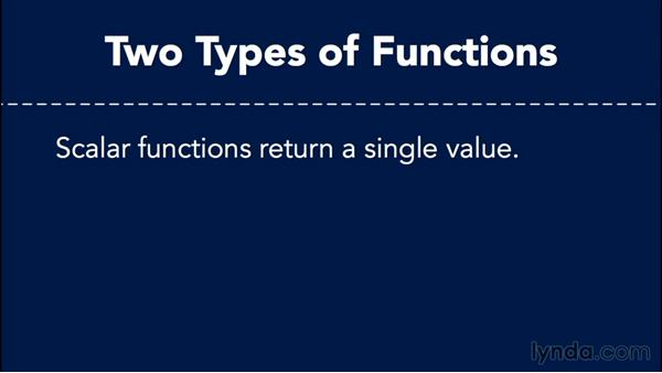 Introducing user-defined functions: Database Fundamentals: Creating and Manipulating Data