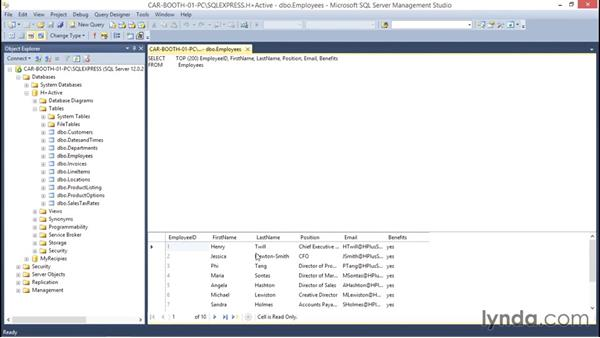 Deleting records in SSMS: Database Fundamentals: Creating and Manipulating Data