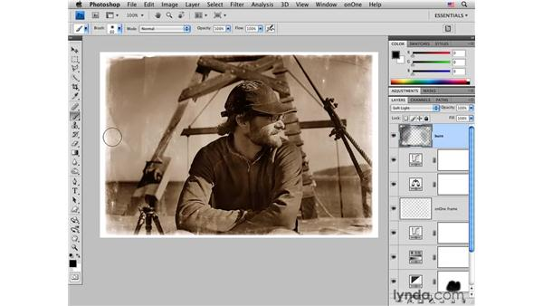 Creating a distressed effect: Photoshop CS4 for Photographers: Creative Effects