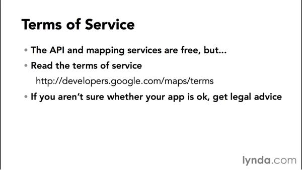Understanding the Maps API terms of service: Adding Google Maps to Android Apps