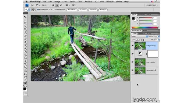 Applying infrared tone and glow: Photoshop CS4 for Photographers: Creative Effects