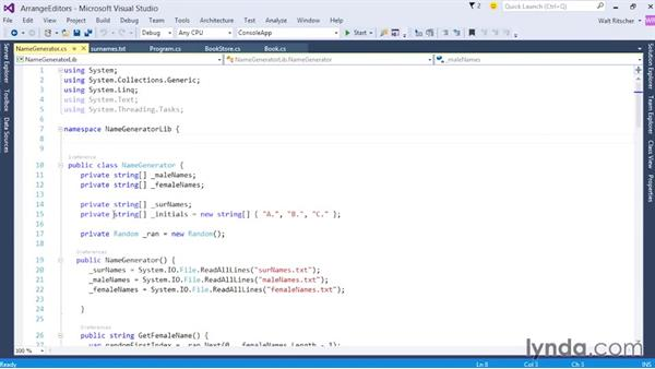 Arranging and grouping the tabbed editors: Visual Studio 2015 Essentials 02: Getting Comfortable with the IDE