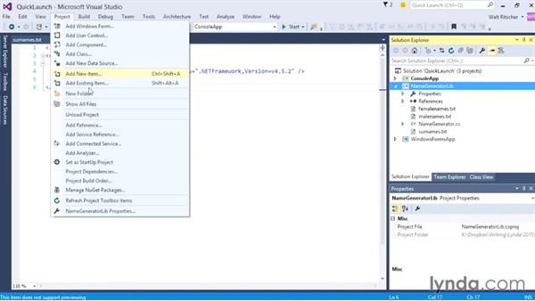 Using Quick Launch: Visual Studio 2015 Essentials 02: Getting Comfortable with the IDE