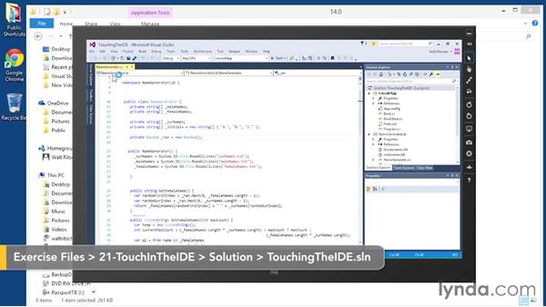 Using touch in the IDE: Visual Studio 2015 Essentials 02: Getting Comfortable with the IDE