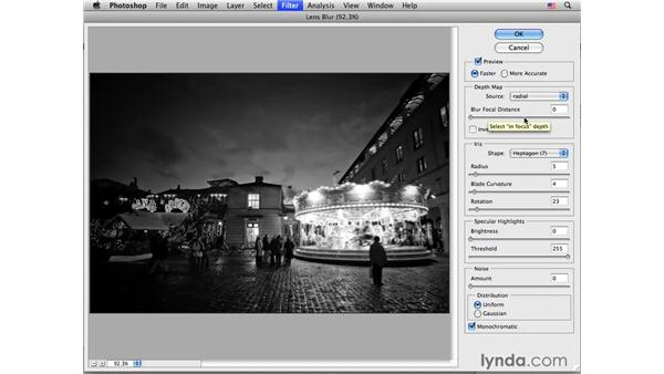 The Lens Blur effect in action: Photoshop CS4 for Photographers: Creative Effects