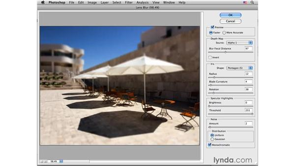 Lens blur and masking: Photoshop CS4 for Photographers: Creative Effects