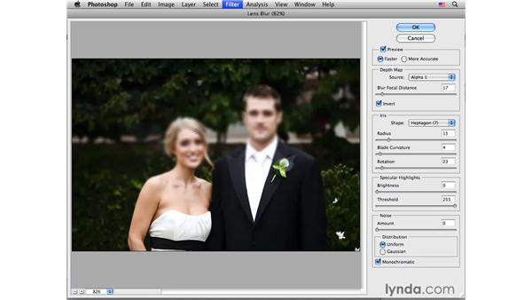 Applying lens blur to portraits: Photoshop CS4 for Photographers: Creative Effects