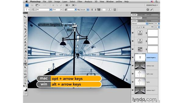 Wisdom pt. 2: Working with type: Photoshop CS4 for Photographers: Creative Effects