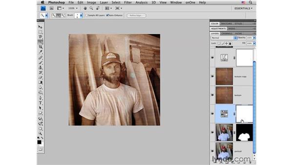 Blending layers to enhance a portrait: Photoshop CS4 for Photographers: Creative Effects