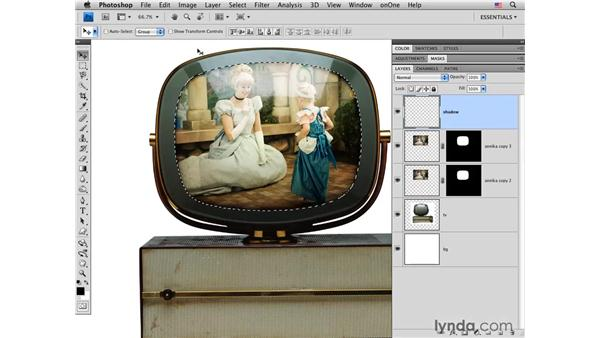 Blending a photo onto a vintage TV set: Photoshop CS4 for Photographers: Creative Effects