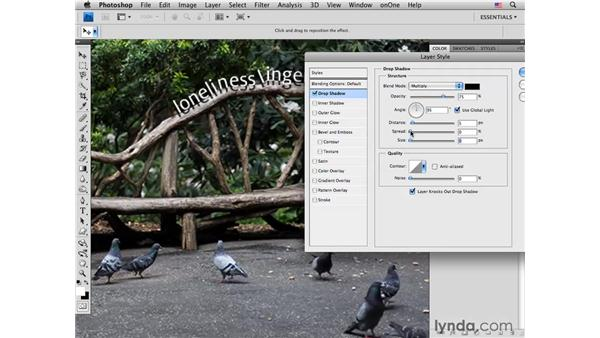 Blending with type layers: Photoshop CS4 for Photographers: Creative Effects