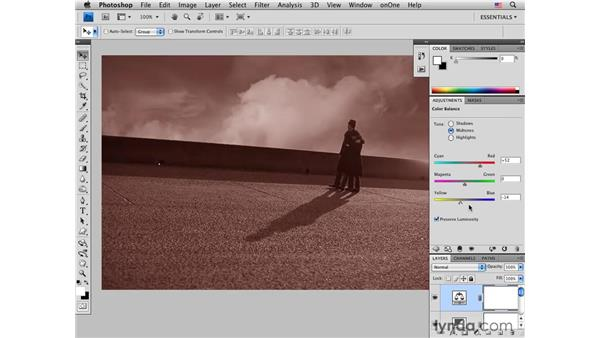 Adding clouds and creative color: Photoshop CS4 for Photographers: Creative Effects