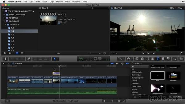 Adding a title to a project: Final Cut Pro X Guru: Titles and Effects
