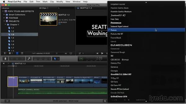 Changing a title's basic format parameters: Final Cut Pro X Guru: Titles and Effects
