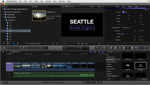 Changing a title's style attributes: Final Cut Pro X Guru: Titles and Effects