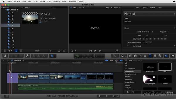 Replacing a title: Final Cut Pro X Guru: Titles and Effects
