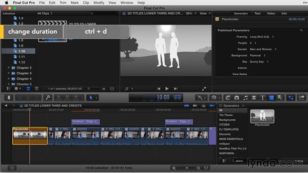 Working with placeholders: Final Cut Pro X Guru: Titles and Effects