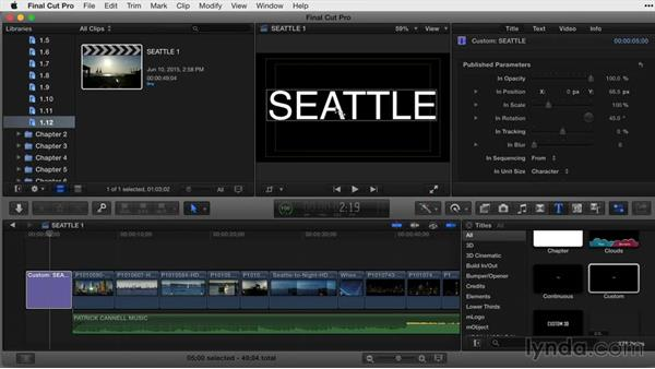 Working within the title-safe area: Final Cut Pro X Guru: Titles and Effects