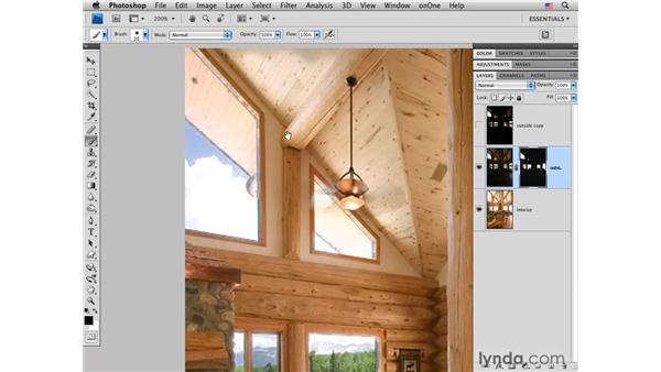 Combining interior and exterior exposures: Photoshop CS4 for Photographers: Creative Effects