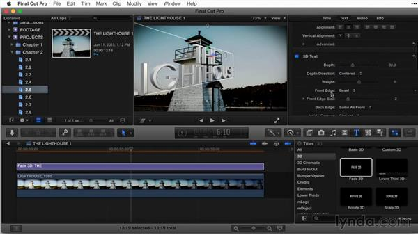 Working with multiple materials, part 1: Final Cut Pro X Guru: Titles and Effects