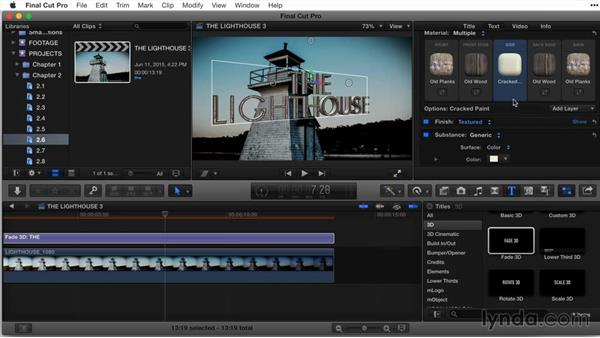 Working with multiple materials, part 2: Final Cut Pro X Guru: Titles and Effects