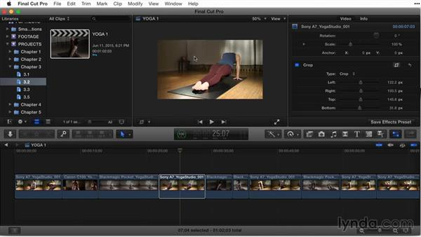 Adjusting cropping: Final Cut Pro X Guru: Titles and Effects