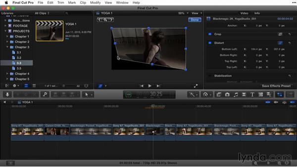 Distorting clips: Final Cut Pro X Guru: Titles and Effects