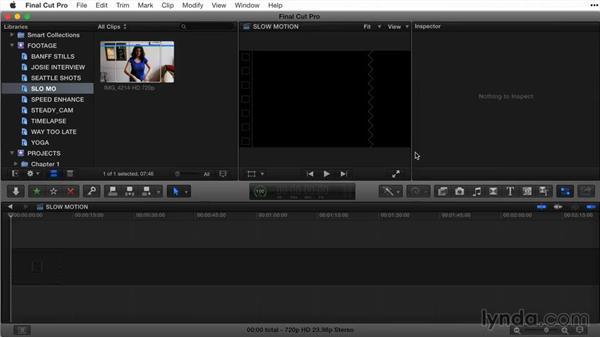 Interpreting clip speed: Final Cut Pro X Guru: Titles and Effects
