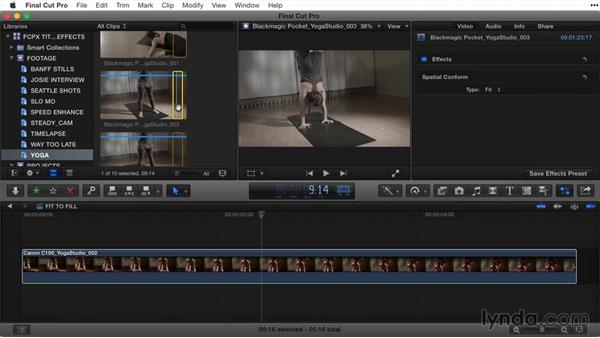 Retiming a clip: Final Cut Pro X Guru: Titles and Effects