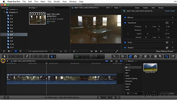 Creating compound clips: Final Cut Pro X Guru: Titles and Effects