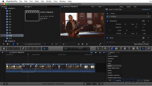 Saving effects presets: Final Cut Pro X Guru: Titles and Effects