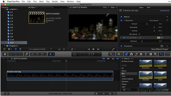 Working with masks on an effect: Final Cut Pro X Guru: Titles and Effects